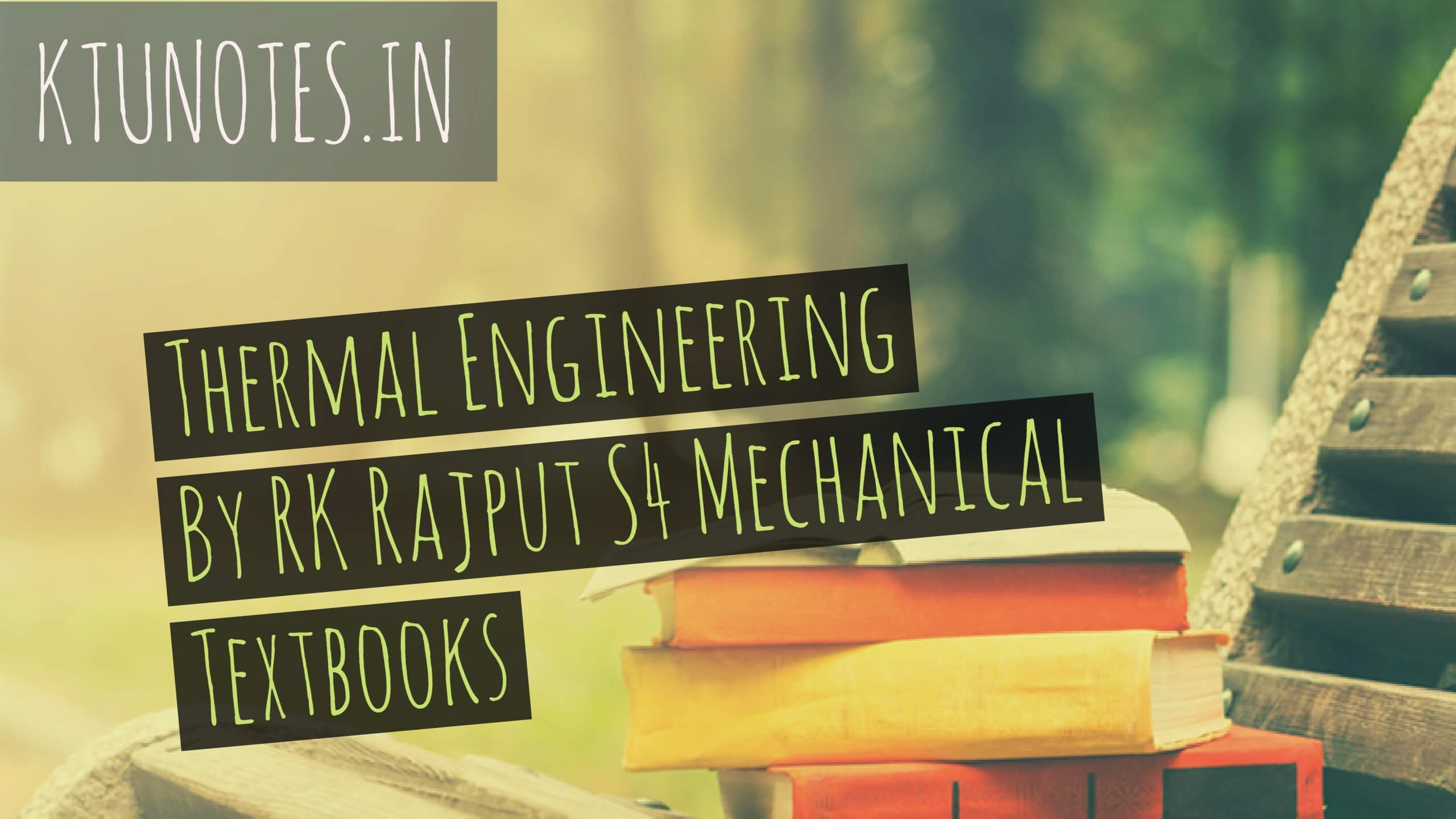 Thermal Engineering Book By Rk Rajput Pdf
